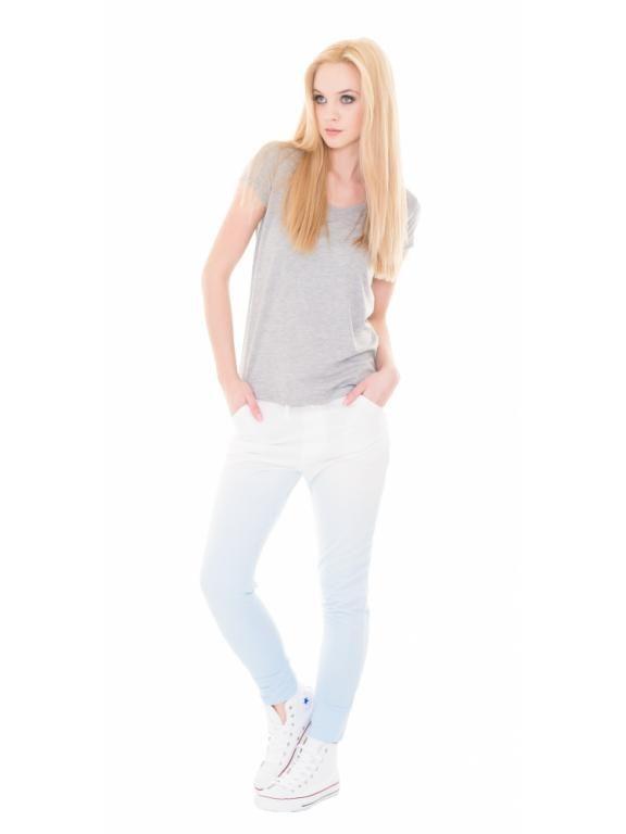 Monashe Spodnie Dresowe Ombre Sciagacz Niebieskie 5333898532 Oficjalne Archiwum Allegro Fashion White Jeans Pants