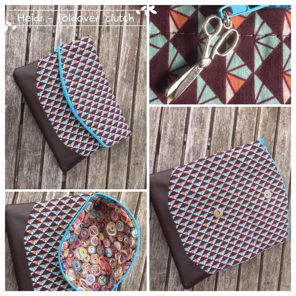 Free foldover clutch purse sewing pattern. The Heidi bag from Swoon ...