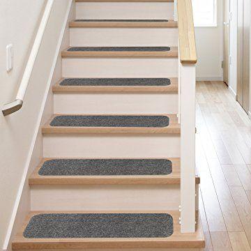 13 Stair Treads Non Slip Carpet Pads Easy Tape Installation