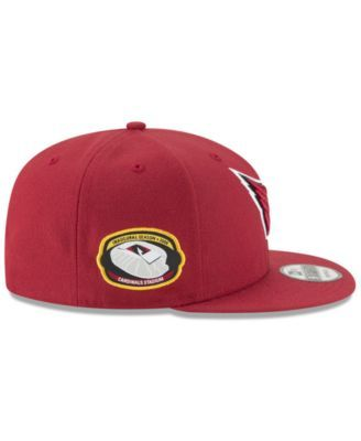 separation shoes 23f55 ee266 New Era Arizona Cardinals Anniversary Patch 9FIFTY Snapback Cap - Red  Adjustable