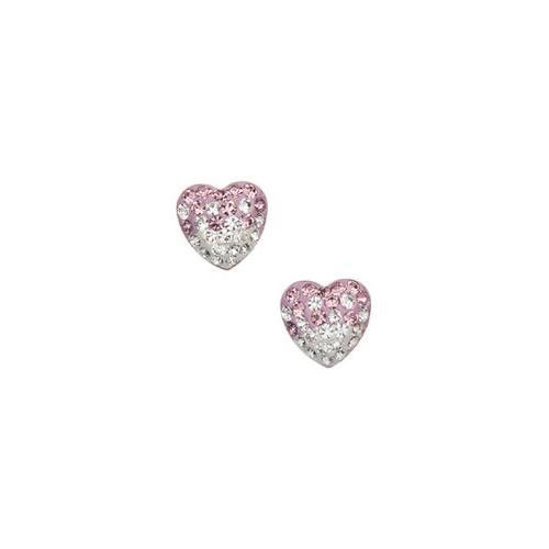 Wholesale Sterling Silver Heart Studs- 8mm