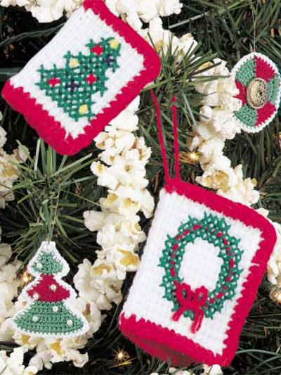 Card Ornaments FREE crochet pattern download. Find this pattern at ...