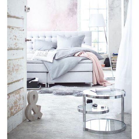 Boxspringbett, inkl Matratze und Topper, modern, Baumwollbezug - möbel höffner schlafzimmer
