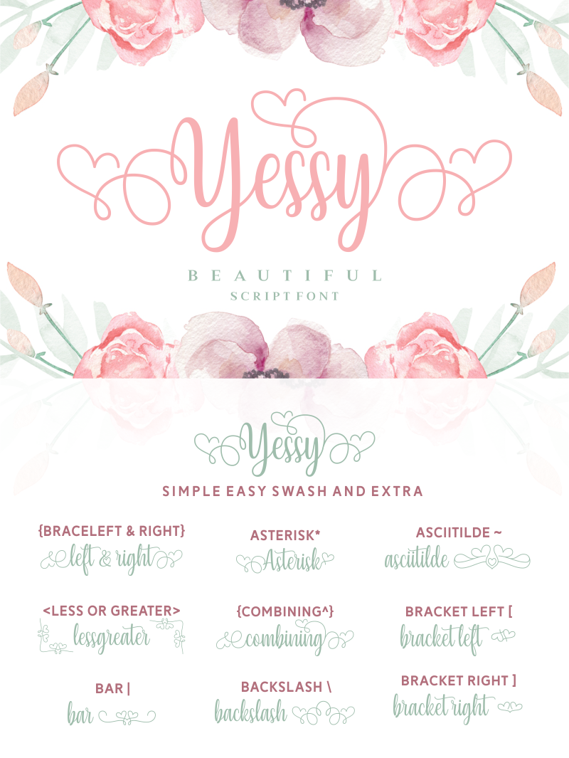 Yessy Font | dafont com | Fonts ❤️ | Cricut fonts, Beautiful fonts