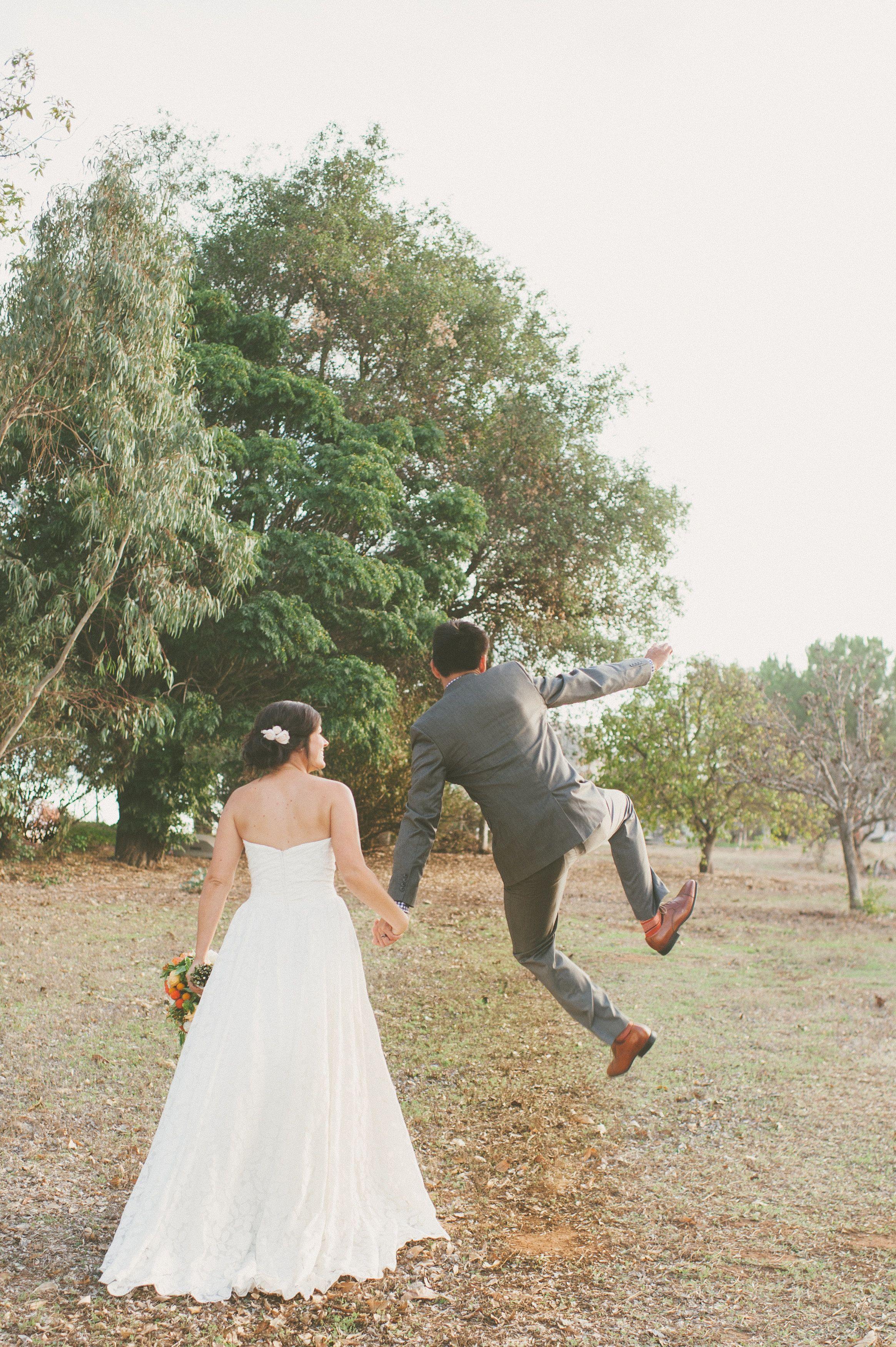 Bold Autumn Backyard Wedding.