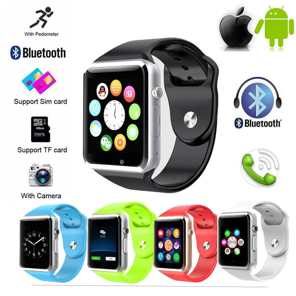 A1 Smart Wrist Watch Bluetooth Waterproof GSM Phone For