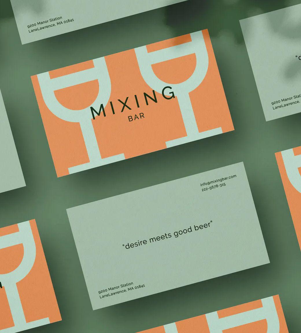 Bar Nightclub Business Card Template Business Card Template Design Business Card Template Psd Business Card Template