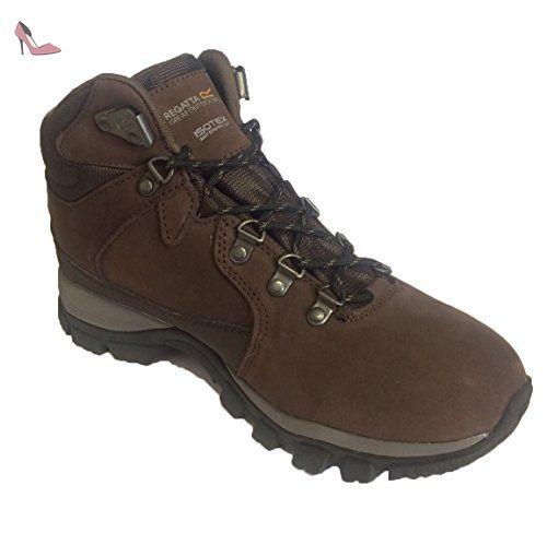 Regatta Great Outdoors Womens/Ladies Borderline Waterproof Lace Up Walking  Boots (UK (Peat/Walnut)