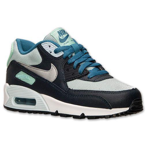 official photos 71fce 1d36c ... Girls Grade School Nike Air Max 90 Running Shoes - 345017 401 Finish  Line ...