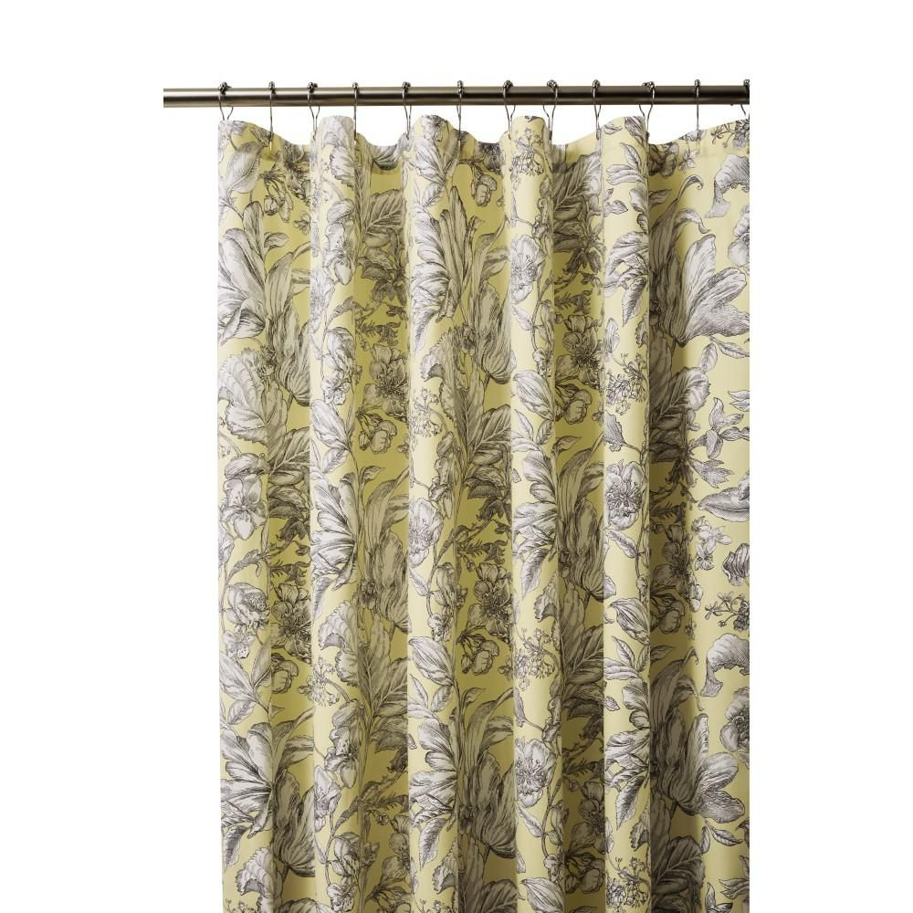 Home Decorators Collection Lillian 72 In Butter Shower Curtain 9936000520