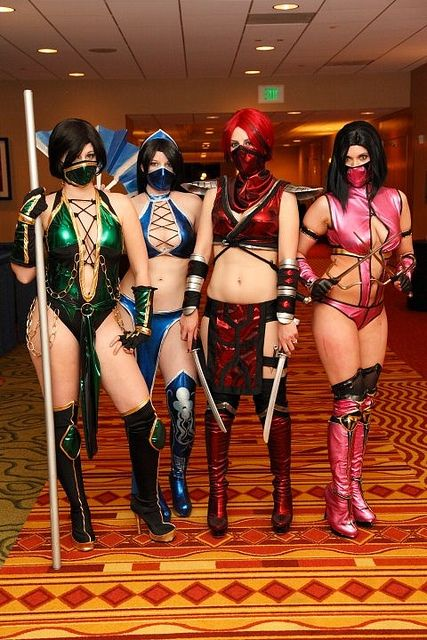 Mortal Kombat Skarlet Girls Women Cosplay Costume