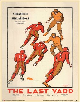 Oklahoma Sooners Football 1930 Vintage Poster Reprint - Asgard Press