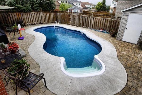 Pool For Small Backyard Small Backyard Pools Backyard Pool Landscaping Pool Landscaping