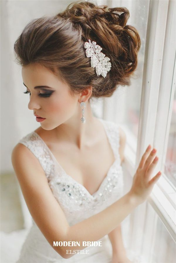 wedding updos and pearl headpieces | Beautiful, Updo and Wedding