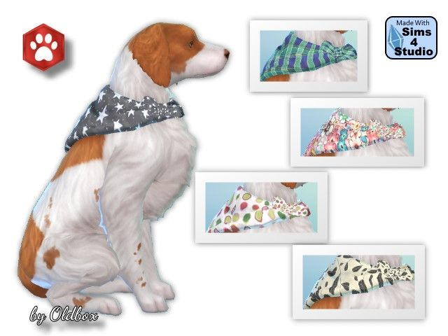 Dog Bandanas By Oldbox At All 4 Sims The Sims Sims Sims 4