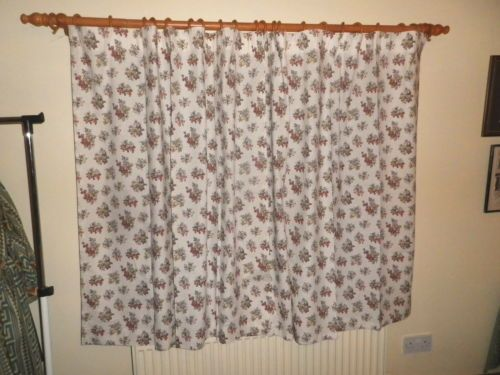 Pair Vintage 1950\'s 60\'s Cotton Kitchen Curtains Fruit Design ...