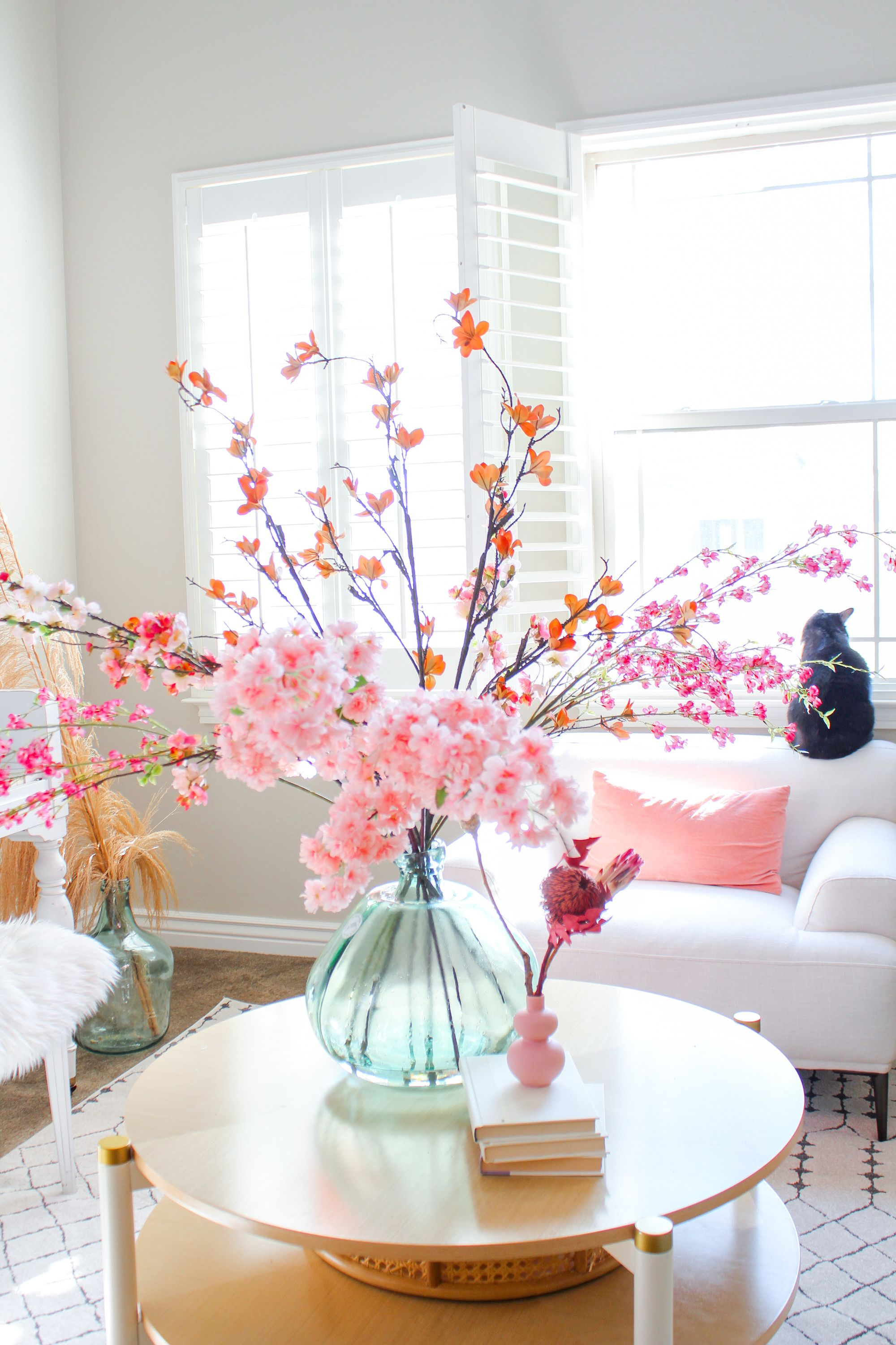 Get The Look For Your Boho Home Decor With Fake Spring Branches From Afloral Com Image By Dreaming Of Decor Springdecor Cherr In 2020 Decor Home Decor Branch Decor