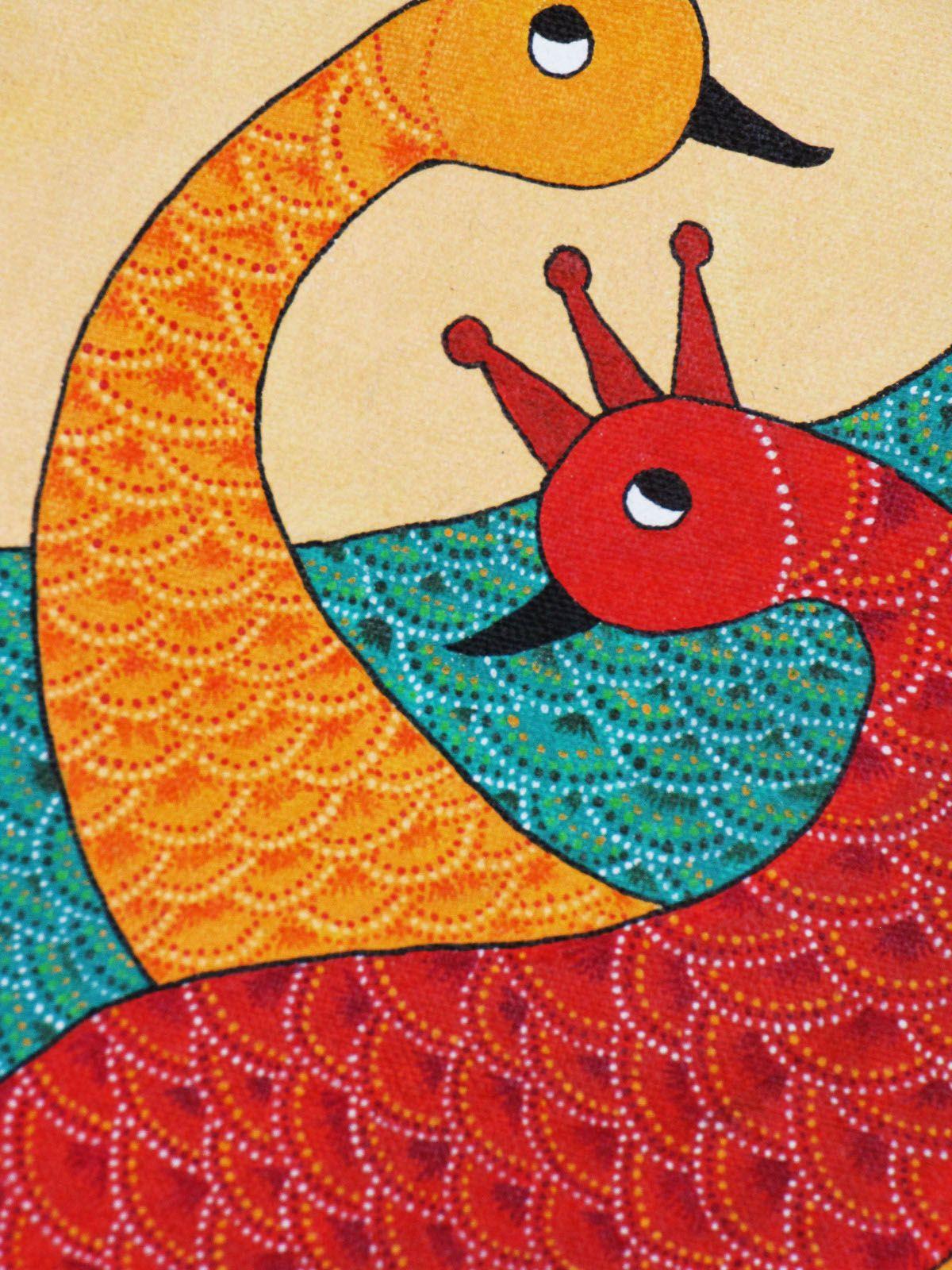 Gond painting gond painting indian folk art tribal art