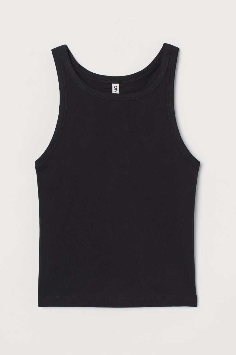 Topshop Tall Ribbed Crop Cami Top 6 93 Liked On Polyvore Featuring Tops Shirts Crop Tops Tank Tops Black Crop Topshop Tall Cropped Cami Cami Crop Top