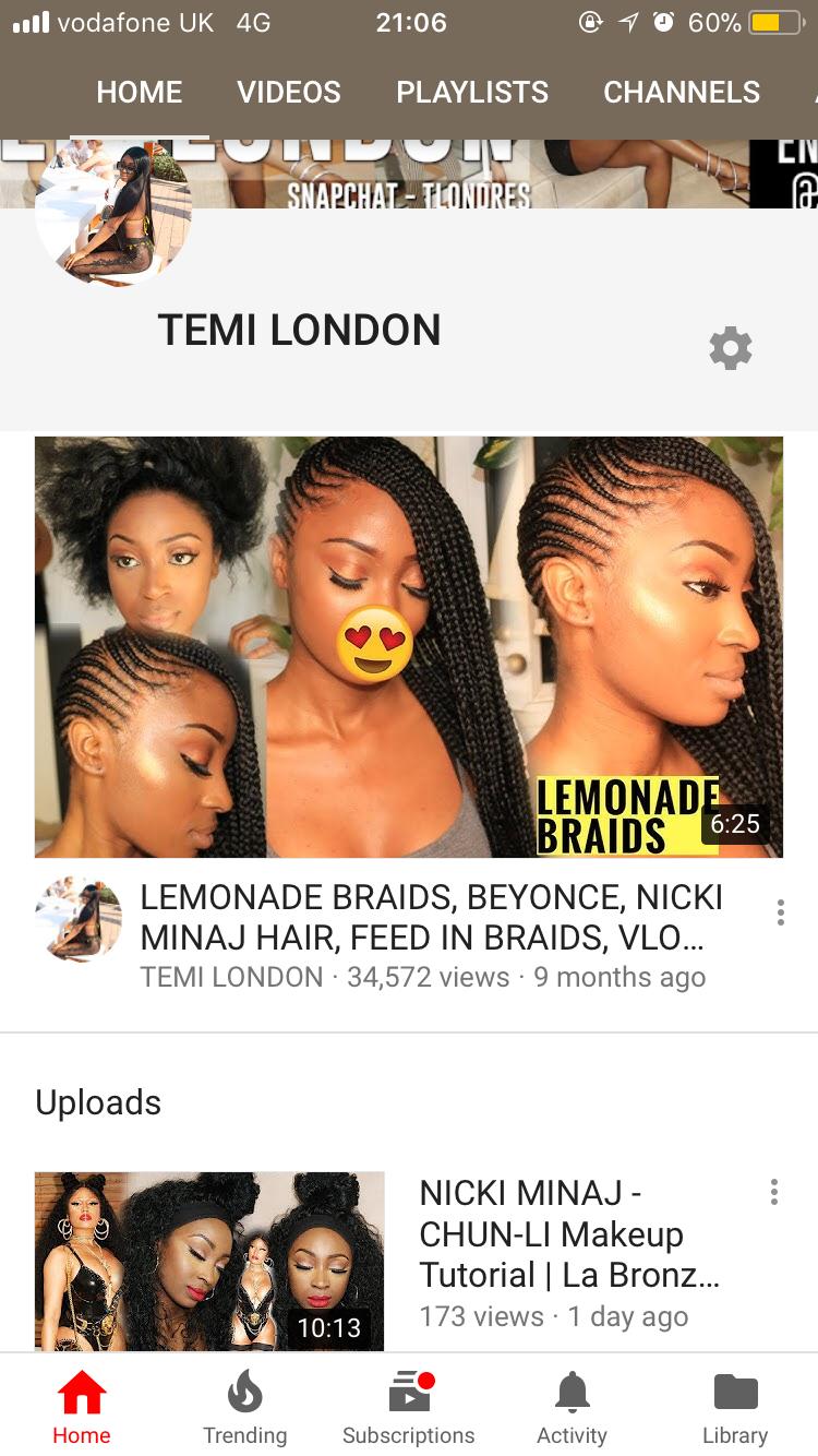 Lemonade Braids Temilondon Hair In 2019 Pinterest Braids