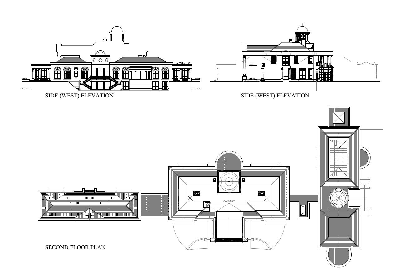 Second Floor Plan Of Windlesham House In Surrey County