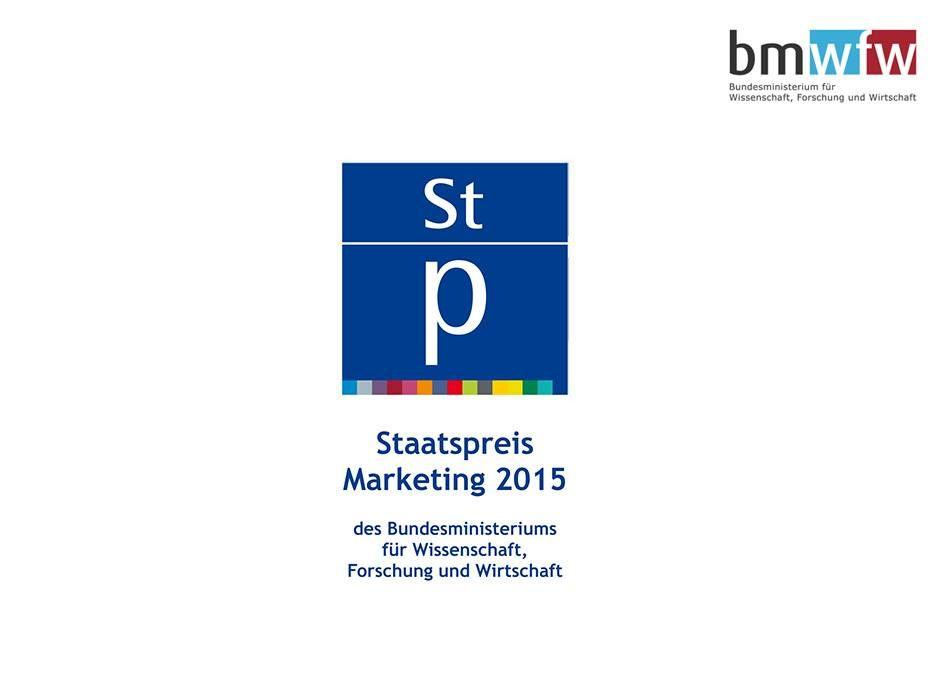 Wir sind Staatspreisträger im Themenbereich Marketing 2015