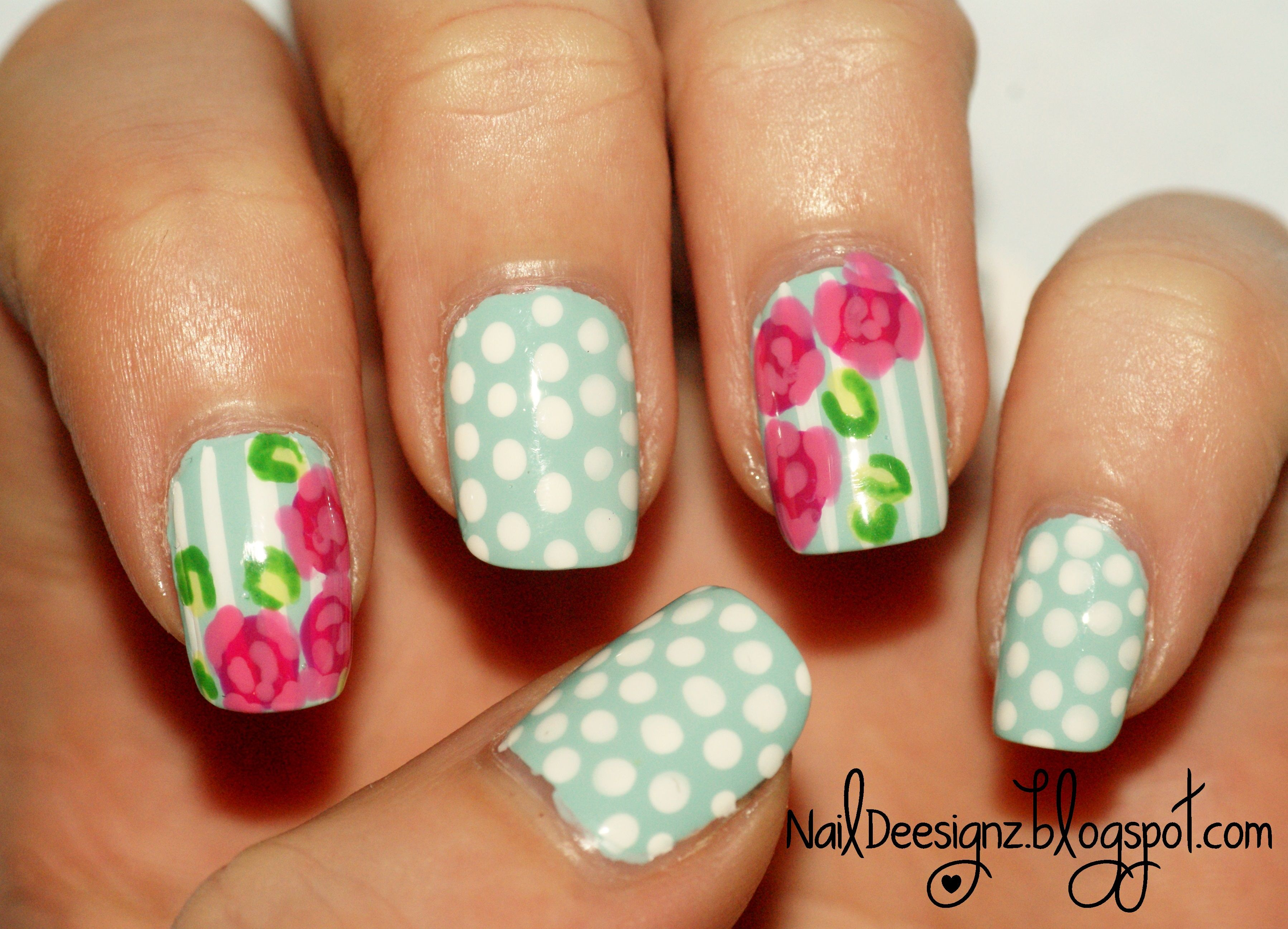 Vintage rose nail art x httpnaildeesignzspot hey this week i have decided to stay with the theme of cath kidston and i have created a vintage rose nail art prinsesfo Choice Image