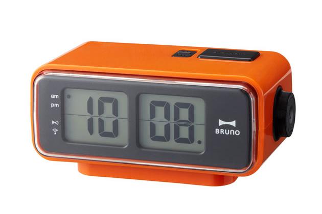 Retro Digital Flip Clock Man Of Many Clock Orange Retro