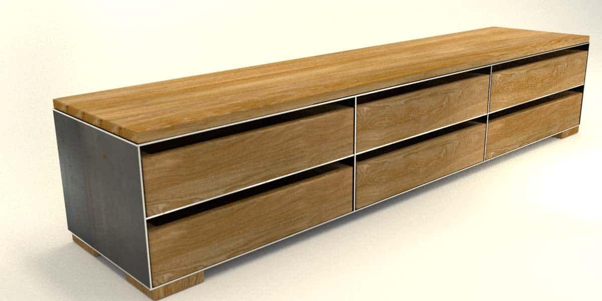 tv-sideboard-mit-schubladen-brennholz-aufbewahrung ...