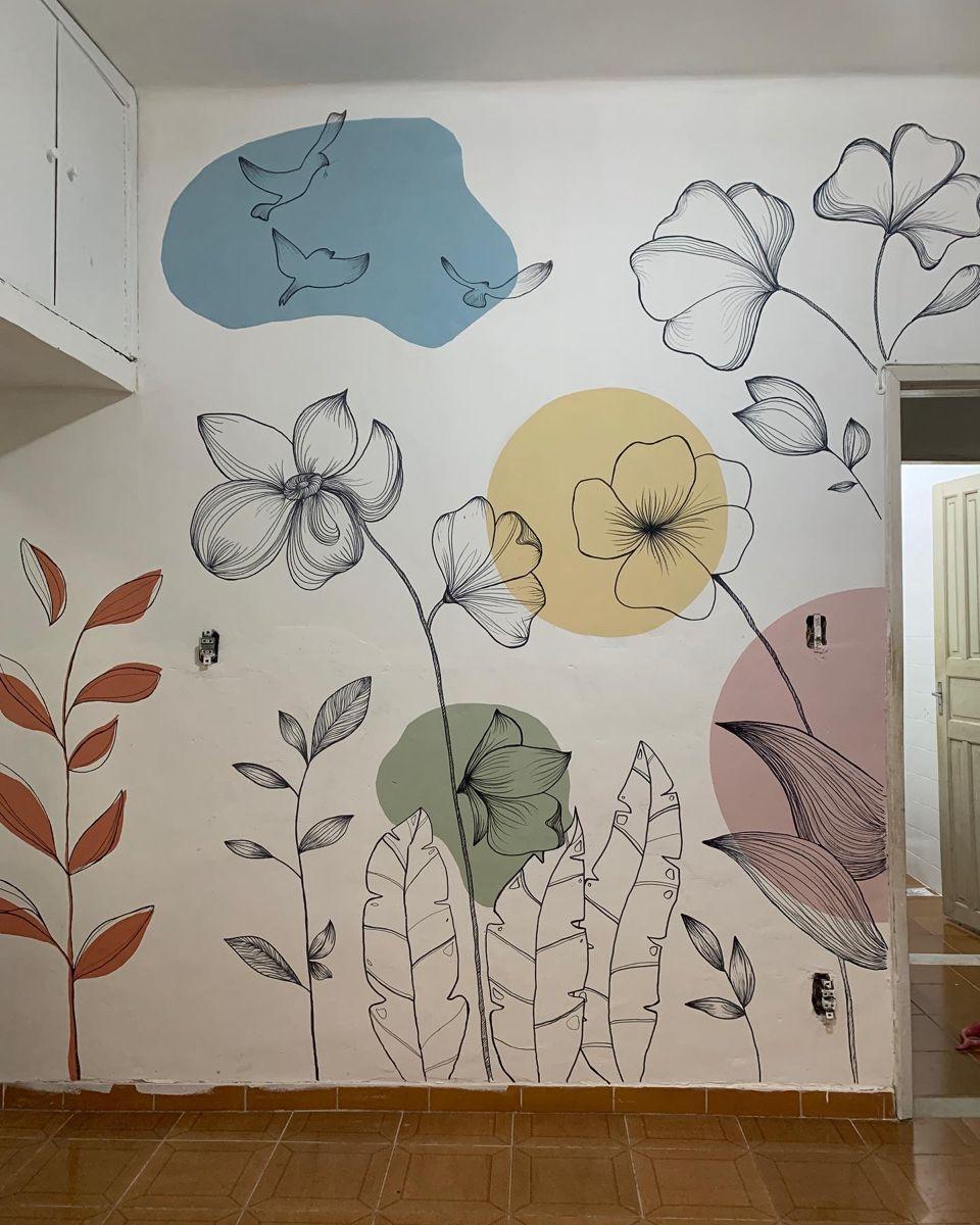 Ilustração na parede