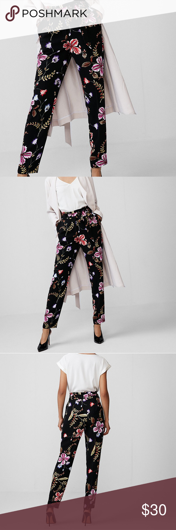 37e5785c51a3 High Waisted Floral Tie Waist Ankle Pant Style   NWT These pants blossom  with personality and