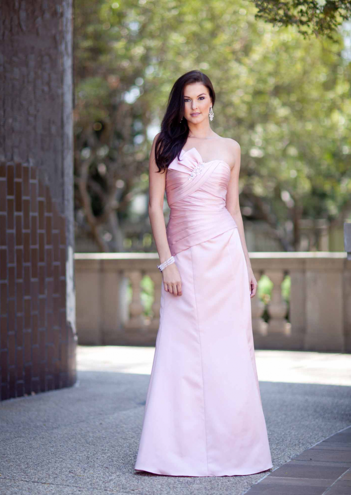 2015 Floor Length A-line Sweetheart Satin Pink Sleeveless Mother of the Bride Dresses MBD348
