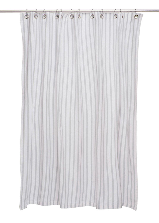 Thin Stripe Cotton Shower Curtain