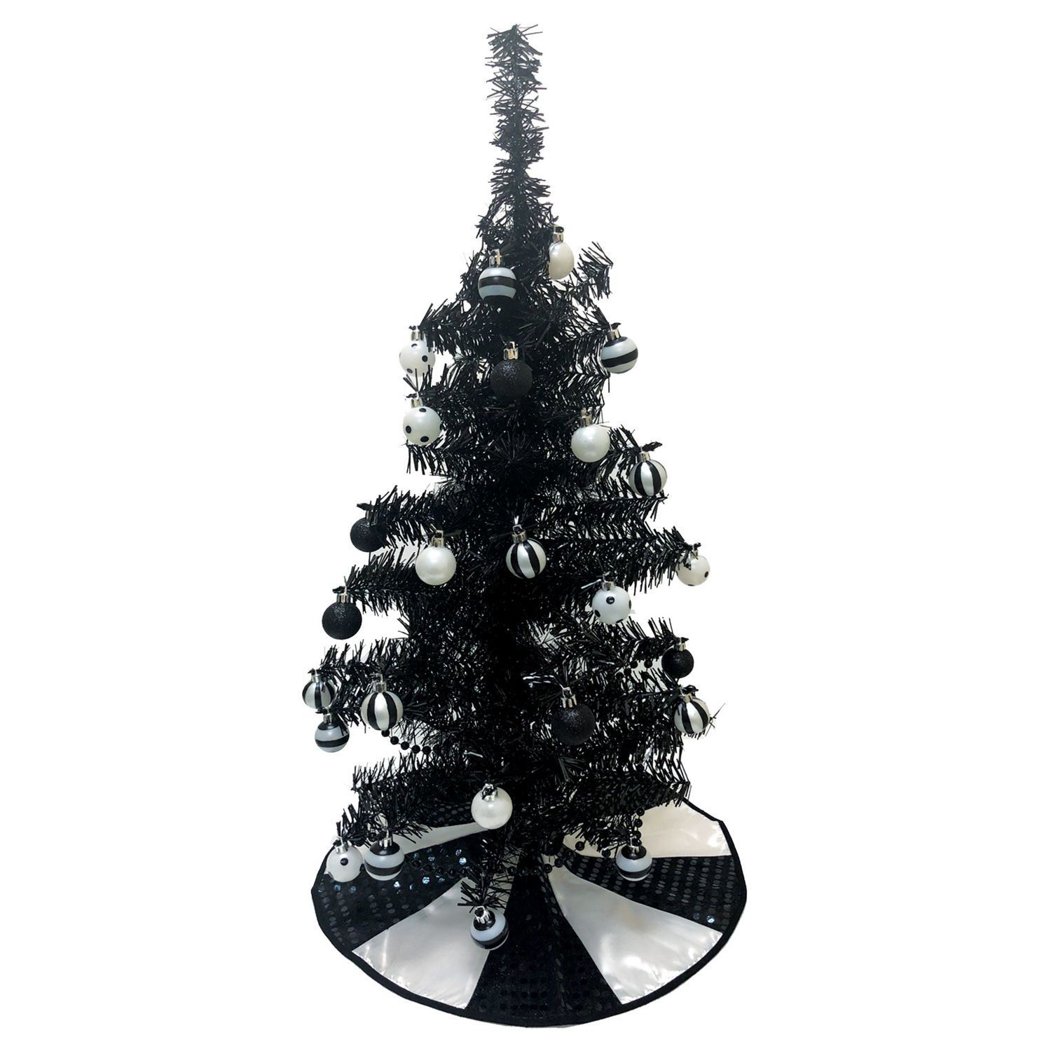 black tinsel tree in 2018 | holidays: halloween / day of the dead