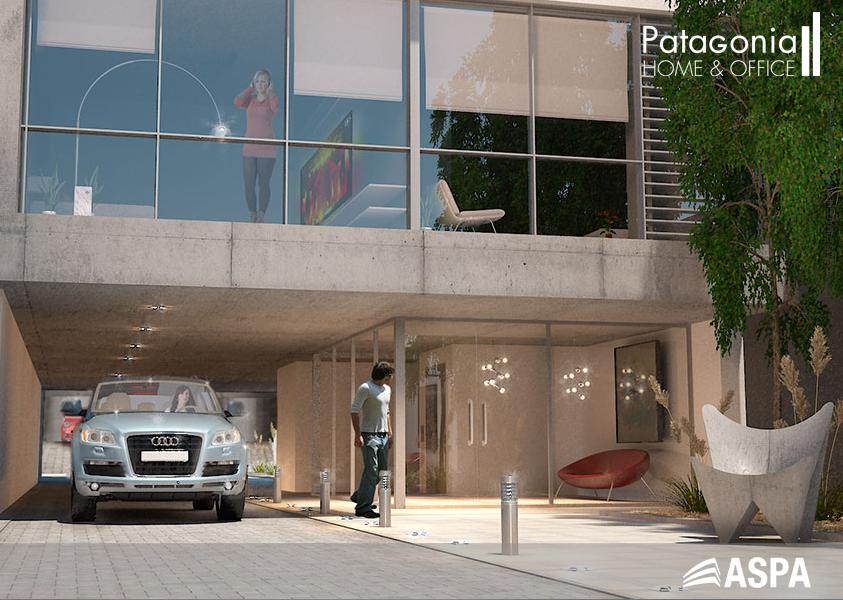Render del patio interno del complejo PATAGONIA HOME & OFFICE. Más información en www.patagonia2.com.ar