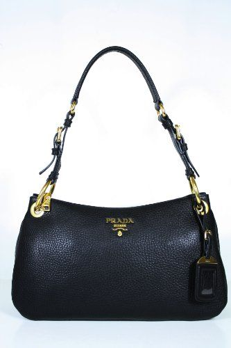 This Authentic Prada Black Leather Br4894 Handbag Comes Directly From Designer Boutiques