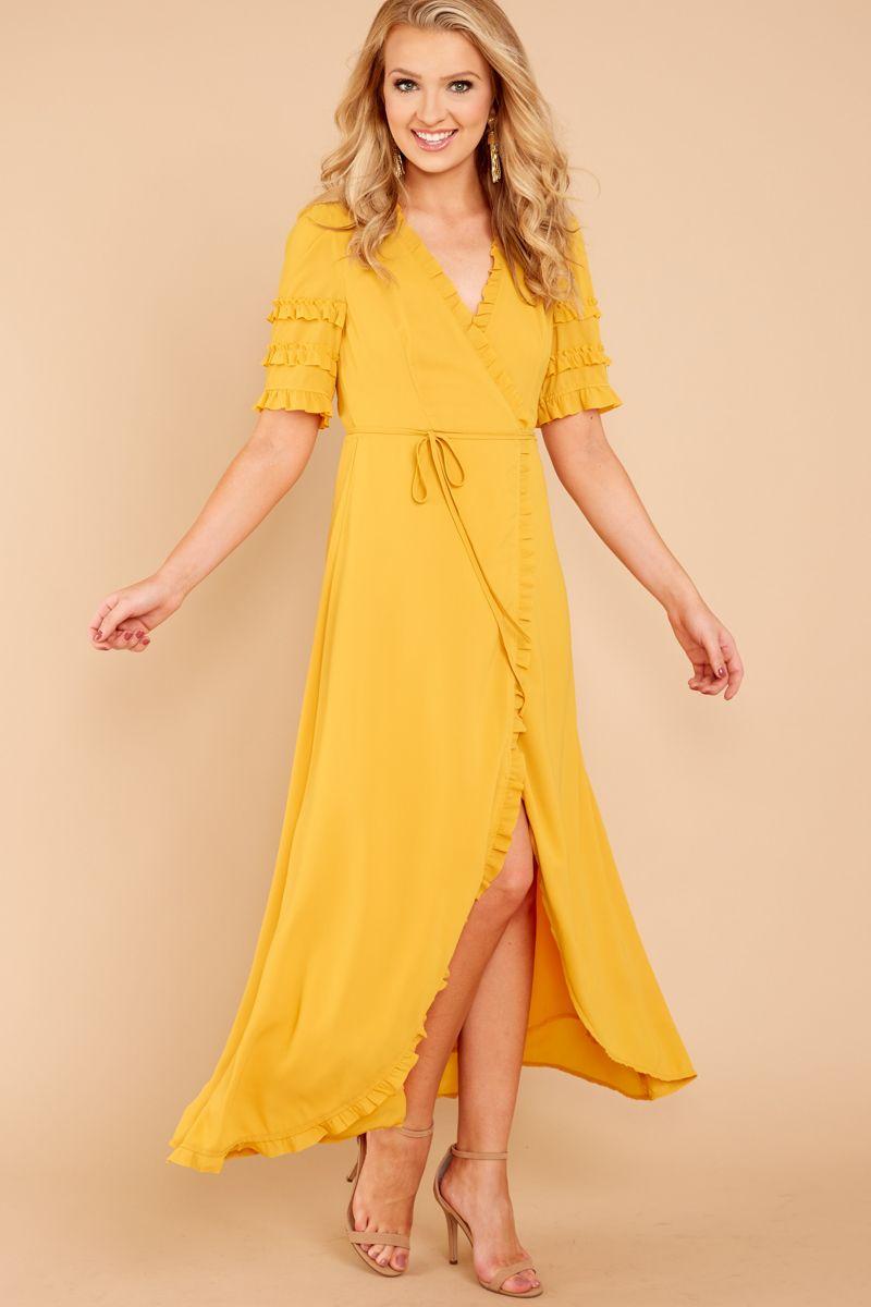 Cloud nine yellow maxi dress fall color spectrum pinterest