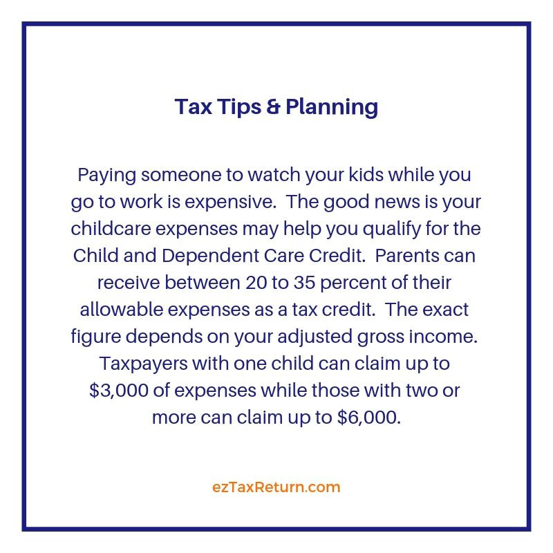 If You Pay For Childcare Hang On To Your Receipts Taxtips Parenting Tax Refund Retirement Savings Plan Saving For Retirement