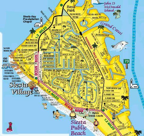 Florida Keys Map Of Beaches.Siesta Key Village Map Courtesy Of Siesta Key Souvenir Guide