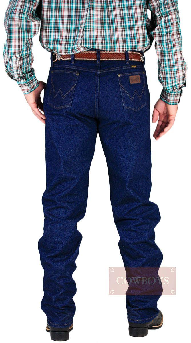 3d3529609 Calça Wrangler Masculina Importada Cowboy Cut Regular Fit Azul escura  lavada Calça Wrangler Masculina Importada do