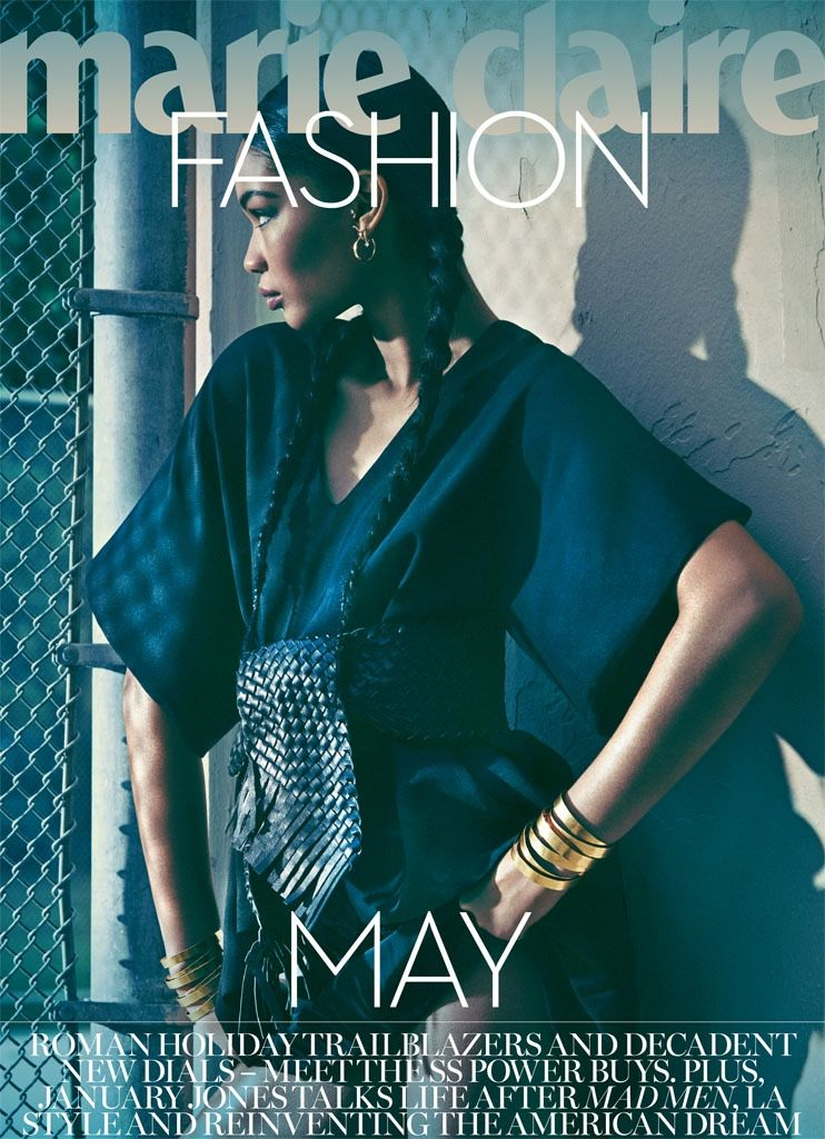Chanel Iman shows off the glamorous side of athletic style in new editorial for Marie Claire UK