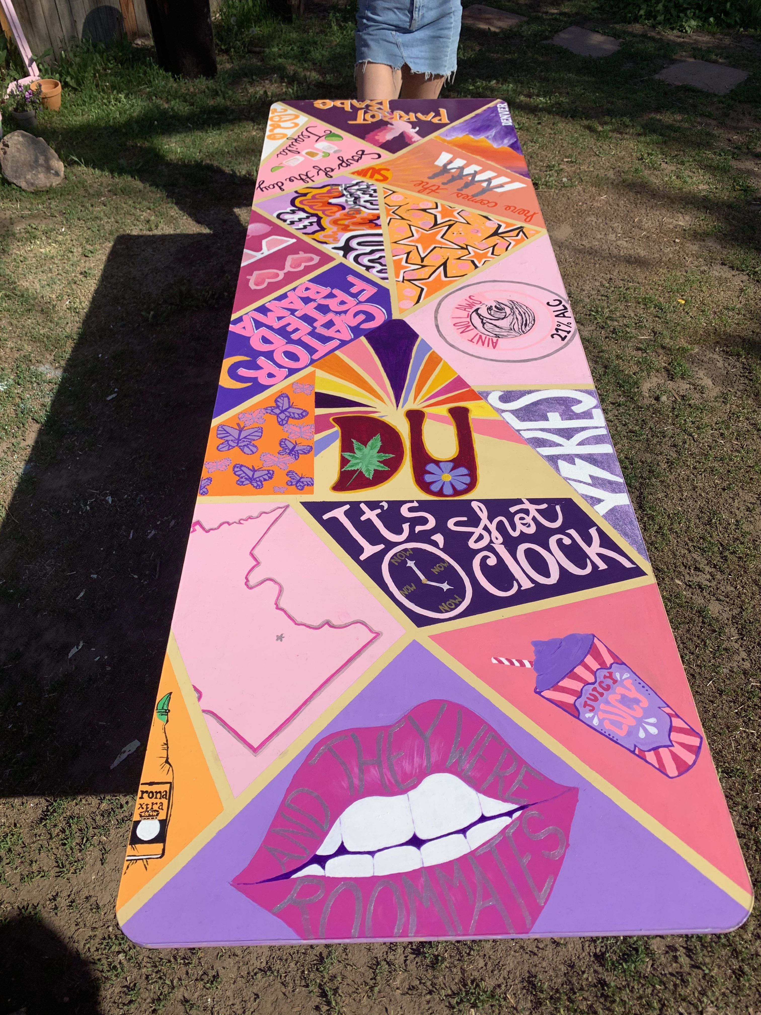 Painted Beerpong Table Beer Pong Table Painted Diy Beer Pong Table Beer Pong Table Diy