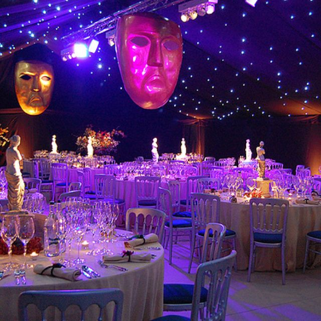 Masquerade Ball Wedding Ideas: Outdoor Wedding Tent. In My Theme