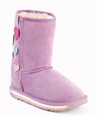 52939505278 Take a look at this EMU Australia Aubergine Hearts Karama Boot ...