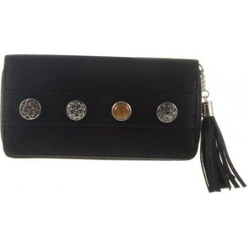 6f3c5238f5a Portemonnee met afneembare #chunks / zwart #wallet #bag #boho Verkrijgbaar  bij #Moojste