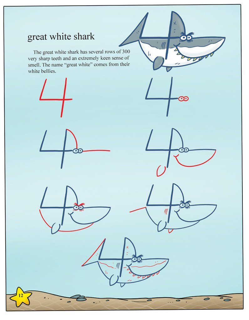 Uncategorized How To Draw Sea Creatures Step By Step draw sea animals with incredible ease using numbers 2 through 20 killer whales