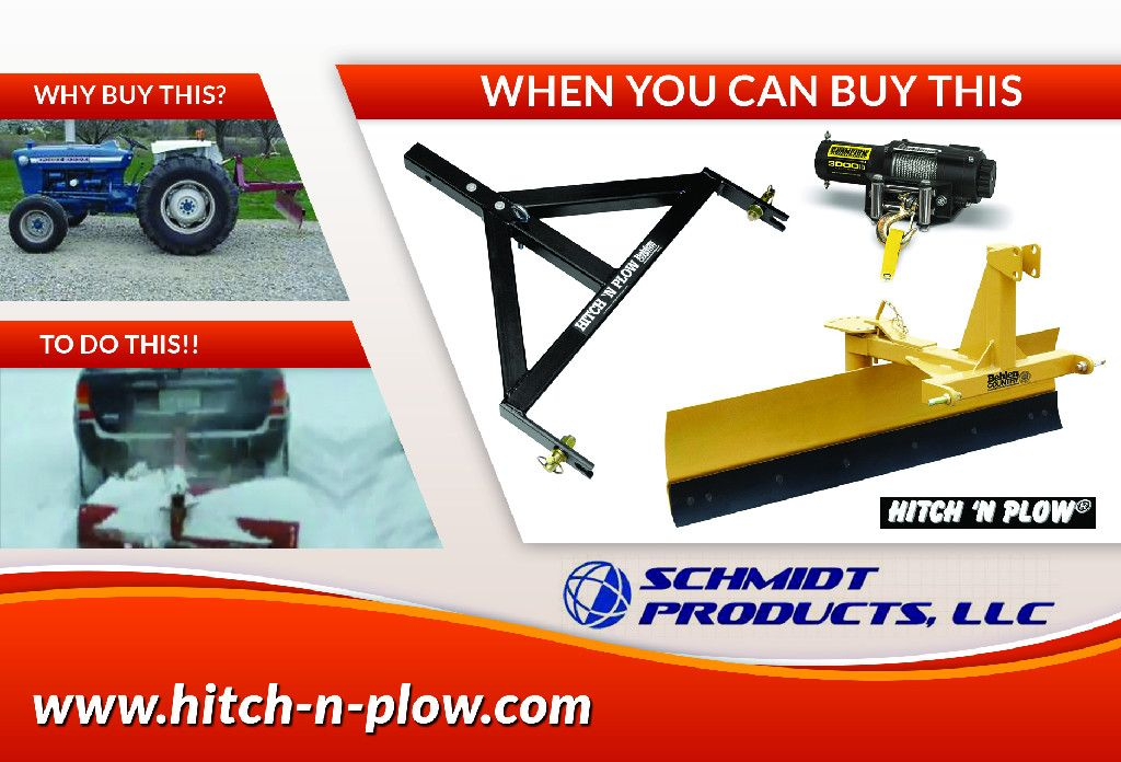 700 snow plow for your truck or SUV!! Hitch 'N Plow is a 3