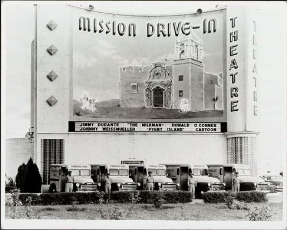 Mission Drive In Mural Proposal Draws Protest Drive In Movie Theater Drive In Movie Drive In Theater