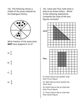 3rd Grade Math Practice STAAR Test #2 $5 | Learning | Pinterest ...
