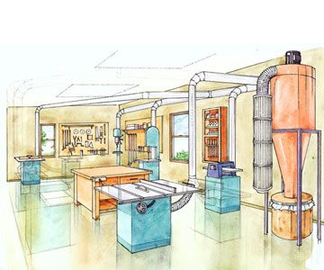 Awesome Dust Collection System Design Home Shop Ideas - Design ...